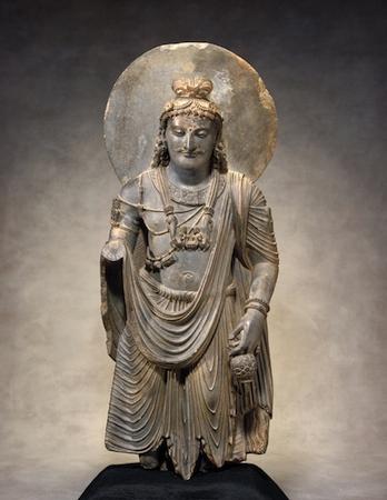 stone statue of Maitreya